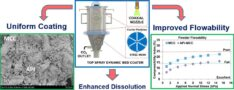 Pharmaceutical nanoparticle isolation using CO2-assisted dynamic bed coating